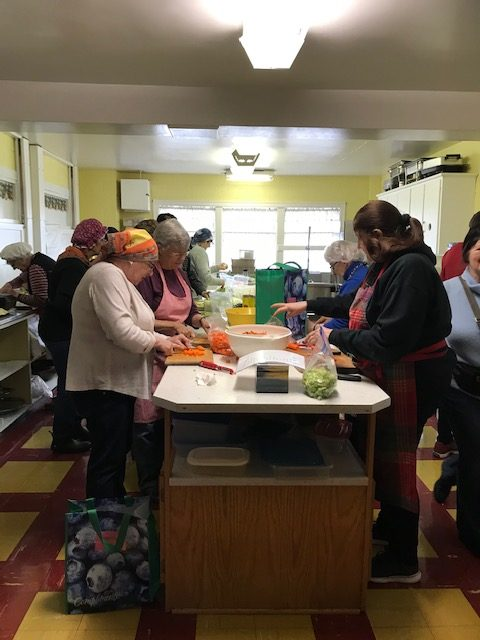 Many hands make light @ Dartmouth Grannies' Soup Making Day February 11, 2020